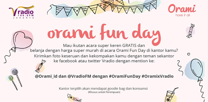 Orami Fun Day